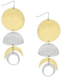 Jessica Simpson - Moon Phase Drop Earrings - Lyst
