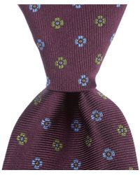 """Brooks Brothers - Two Tone Flower Traditional 3.25"""" Silk Tie - Lyst"""