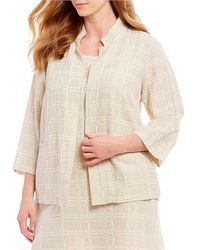 Eileen Fisher - Plus Size High Collar Sleeves Jacket - Lyst