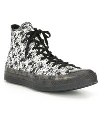 0d8d2513f6d6e5 Lyst - Converse Chuck Taylor All Star Leather Zip Sneaker in Black ...
