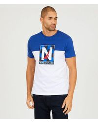 Nautica - Slim Fit Short-sleeve Pieced Active Logo T-shirt - Lyst