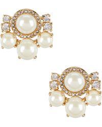 Kate Spade - Pearls Of Wisdom Cluster Stud Earrings - Lyst