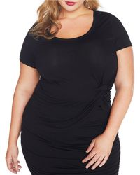 REBEL WILSON X ANGELS - Plus Size Ruched Jersey Tee Shirt - Lyst