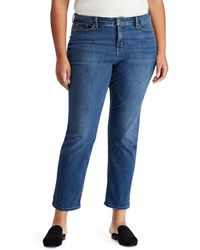 Lauren by Ralph Lauren - Lauren By Ralph Lauren Plus Size Premier Straight Curvy Jeans - Lyst