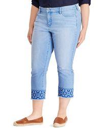 Lauren by Ralph Lauren - Plus Size Premier Straight Crop Jean - Lyst