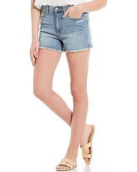 Ella Moss - Vintage Denim High Waist Shorts - Lyst