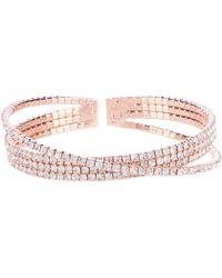 Cezanne - Crossover Crystal Cuff Bracelet - Lyst