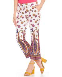 Trina Turk - Mercury Paisley Floral Print Crop Pants - Lyst