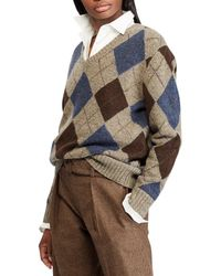 Polo Ralph Lauren - V-neck Argyle Sweater - Lyst