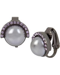 Kenneth Cole - Pearl Clip-on Earrings - Lyst
