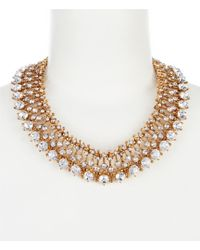 Belle By Badgley Mischka - Multi Round Faceted Collar Necklace - Lyst