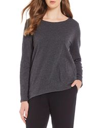 Eileen Fisher - Ballet Neck Top - Lyst