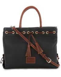 Dooney & Bourke - Pebble Collection Tassel Colorblock Tote - Lyst