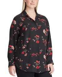 Lauren by Ralph Lauren - Plus Size Floral Button-down Shirt - Lyst