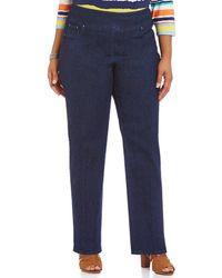 Ruby Rd. - Plus Pull-on Denim Jeans - Lyst