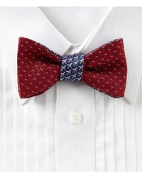 Brooks Brothers - Micro Dotted With Airplanes Reversible Bow Tie - Lyst