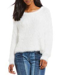Chelsea & Violet - Slouchy Fuzzy Eyelash Sweater - Lyst