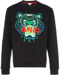 KENZO - Tiger Embroidery Sweatshirt - Lyst