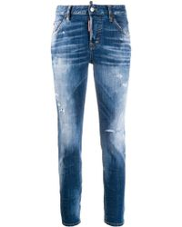DSquared² - Skinny Stonewashed Jeans - Lyst