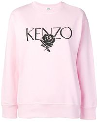 1f0ee8d4 KENZO Embroidered Rose Hoodie - Lyst