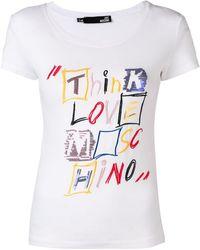 Love Moschino - Think Print T-shirt - Lyst