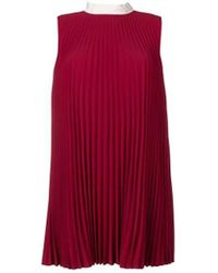 7361a339 RED Valentino Embroidered Sequined Dress in Natural - Lyst