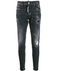 DSquared² - Ripped Dan Jeans - Lyst