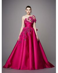 Notte by Marchesa - Marchesa Couture One Shoulder Duchess Satin Ball Gown - Lyst