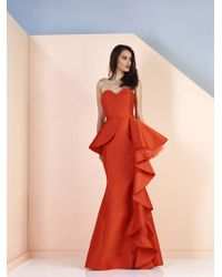 Edward Arsouni - Divina By Strapless Mikado Mermaid Gown - Lyst
