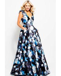 Jovani - Jvn By V-neck Floral Gown - Lyst