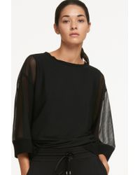 DKNY - Cropped Track Pant With Drawstring - Lyst