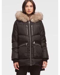 DKNY - Fur-trimmed Puffer Coat - Lyst