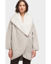 DKNY - Oversized Cocoon Cardigan With Hood - Lyst