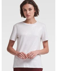 DKNY - Sequined Tee - Lyst