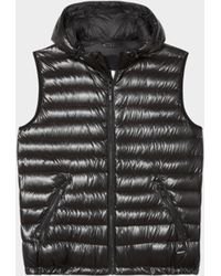 DKNY - Hooded Quilted Puffer Vest - Lyst