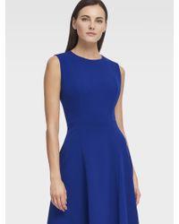 DKNY - Sleeveless Dress With Handkerchief Hem - Lyst