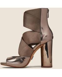 DKNY - Briana Multi-strap Heeled Leather Sandal - Lyst