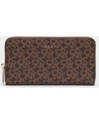 DKNY - Town & Country Large Logo Pvc Zip-around Wallet - Lyst