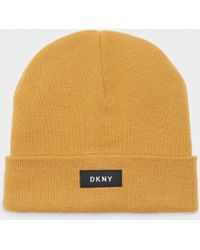 4f1e0073bfe Lyst - DKNY Logo Beanie in Red for Men