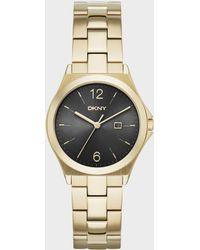 DKNY - Women's Parsons Gold-tone Stainless Steel Bracelet Watch 34mm Ny2366 - Lyst