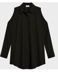 DKNY - Cold Shoulder Button Through Top - Lyst