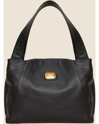 cf1f65f22e Lyst - DKNY Large Leather Bucket Bag in Black