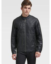 DKNY - Coated Moto Jacket - Lyst