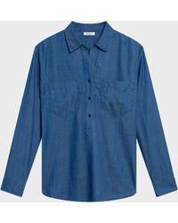 DKNY - Chambray Popover Shirt - Lyst