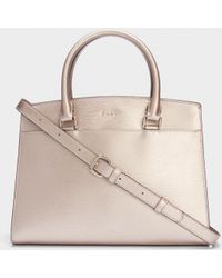 DKNY - Sutton Leather Satchel - Lyst