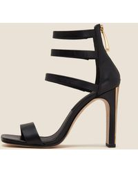 DKNY - Sol Leather Ankle Strap Sandal - Lyst