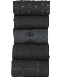 Dockers - Windowpane Socks Dress Socks (5 Per Package) - Lyst