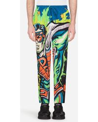 Dolce & Gabbana - Pyjama Trousers With Superhero King Print - Lyst