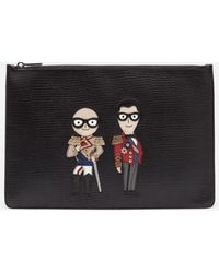 Dolce & Gabbana - Leather Purse With Patch - Lyst