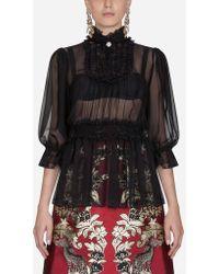 Dolce & Gabbana - Chiffon Blouse - Lyst